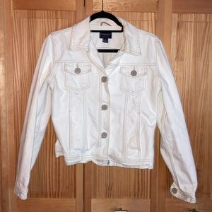 AEO White Denim Jacket